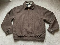 Woolrich Houndstooth Vintage Wool Zip Up Jacket USA Made $68.00