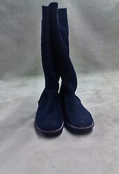 Anne Klein black fur mid calf boots size 9.5 one side of the heel has a tear $29.99