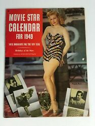 Vintage quot;Movie Star Calendar for 1949quot; Virginia Mayo Loretta Young Lana Turner $13.97
