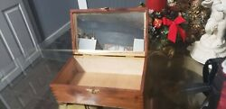 Vintage Box made of wood with mirror. $30.00