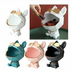 Big Mouth Dog Storage Box Resin Art Home Decoration Animal Lover Collection $40.99