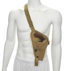US M3 Victory Revolver Pilots Canvas Shoulder Holster with Shell loops Khaki $32.99