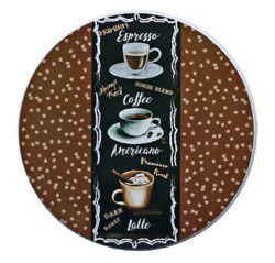 Coffee Themed Burner Covers for Stove 10in amp; 8in Complete Set of 4 FREE SHIPPING $14.89
