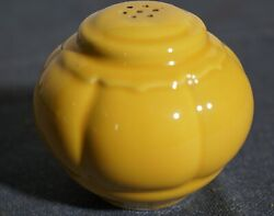 VINTAGE YELLOW HOMER LAUGHLIN RIVIERA SALT SHAKER $12.99