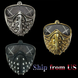 Rivet Mask Halloween Punk Devil Cosplay Stage Clubbing Rave Party Face Masks US $7.99