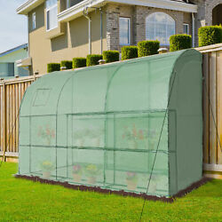Outdoor Large Plant Green Hot House w Ventilation Windows amp; Zippered Doors $113.99