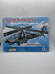 Super Puzzle AH 64 Apache Armed Helicopter Puzzle XY 319 NEW MILITARY AIR CRAFT $15.24