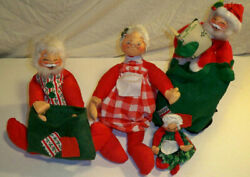 Vintage Annalee mrs santa claus Christmas Holiday Decorations $30.00