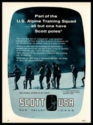 1965 Scott Ski Poles Sun Valley Idaho US Alpine Squad Bend Oregon Photo Print Ad $14.95