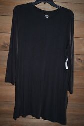 Old Navy black long sleeve scoop neck long tunic New With Tags XS L $9.99