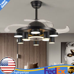42quot; LED Modern Chandelier Dimmable Invisible Ceiling Fan Light Remote Control $160.00