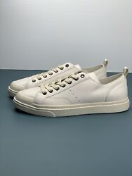 Coach Authentic Mens Casual White Leather Shoes Size 9.5 G1646 $110.00