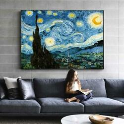 Van Gogh Starry Night Famous Wall Paintings Reproductions Impressionist Landscap $11.49