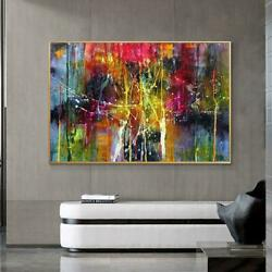 Modern Wall Canvas Art Poster And Print Colorful Abstract Art Painting On Canvas $45.99