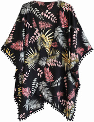 Alona Swimsuit Cover Up for Women Beach Kimono Cardigan with Bohemian Floral Pri $30.80