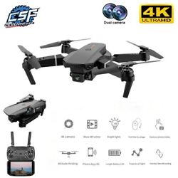 Drone Foldable Quadcopter WIFI FPV 720P 1080P 4K Wide Angle Dual Camera with GPS $55.99