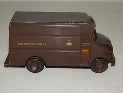 VINTAGE TOY 5 1 2quot; LONG UPS UNITED PARCEL SERVICE PLASTIC DELIVERY TRUCK $23.99