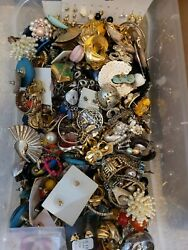 Unsearched Jewelry Vintage Modern Lot Wear Junk Craft Box 2 3 Pounds HUGE SALE $28.99