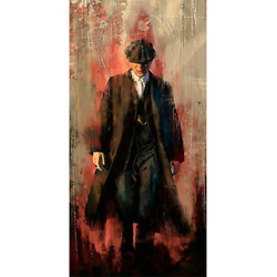 Peaky blinders Graffiti Wall Art Canvas Paintings Tommy Shelby Modern Posters $7.76