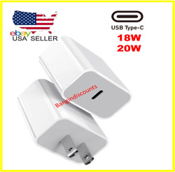 For iPhone 12 Pro Max Mini 18W 20W USB Type C Fast Wall Charger PD Power Adapter $6.99