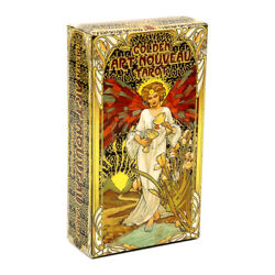 Golden Art Nouveau Tarot Cards Rider Waite Divination Board Party Game Gift 78 $12.99