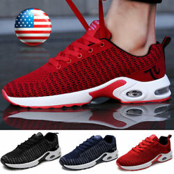 Men#x27;s Air Cushion Sports Athletic Tennis Sneakers Outdoor Casual Running Shoes $22.99