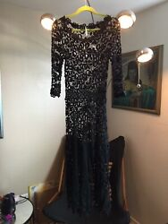 Free People Black Maxi Dress Crochet Boho Formal To festival Style SP SMALL $32.00