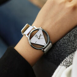 TRIANGLE WOMEN WATCHES CREATIVE NOVELTY AND FASHION QUARTZ LEATHER WATCH $5.00