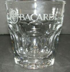 Bacardi Rum Cocktail On The Rocks Lowball Glass Barware Mancave $6.75
