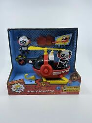 Jada Toys Ryan#x27;s World Helicopter with Combo Panda Figure 6quot; Feature Vehicle Red $15.73