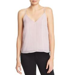 Re:named Womens Metallic Striped V Neck Camisole Top Shirt BHFO 9750 $2.56