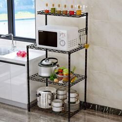 4 Tier Microwave Stand Storage Kitchen Baker#x27;s Rack Utility Microwave Holder New $38.88