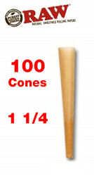 RAW Classic 1 1 4 Size Pre Rolled Cones 100 Pack Authentic Free Shipping $20.79