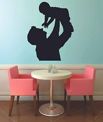 Father and Child Silhouette Home Kids Room Wall Sticker Vinyl Art Decals Decor $10.00