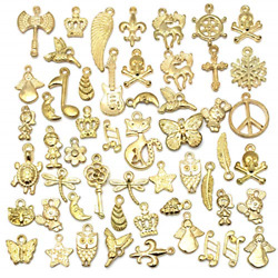Wholesale Bulk 50PCS Mixed Charms Pendants DIY for Jewelry Making and Crafting $8.75