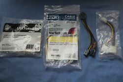 4 Assorted Computer Power Cables PCI Express LOT AB $8.00