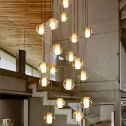 Modern Crystal Chandelier Glass Bubble Ball Pendant Hanging Light Fixture Decor $211.59