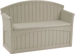 Suncast 50 Gal. Outdoor Durable Resin Deck Storage Bench For Backyard Patio $163.18
