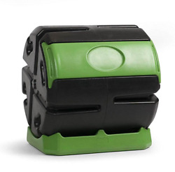 Hot Frog 37 Gal. Recycled Plastic Compost Tumbler Black amp; Green $92.00