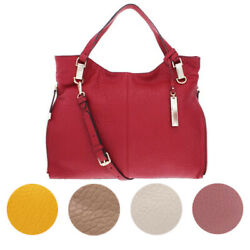 Vince Camuto Eliza Women#x27;s Pebbled Lamb Leather Convertible Tote Handbag $37.99