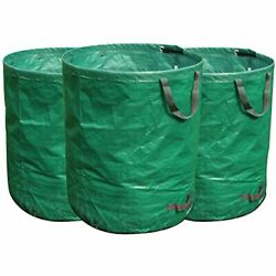 FLORA GUARD 3 Pack 72 Gallons Garden Waste Bags Heavy Duty Compost With Handles $27.94