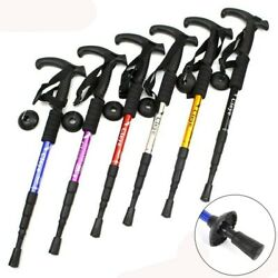 6 Colors Walking Canes Telescopic Trekking Hiking Poles Nordic Walking Sticks $12.64
