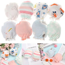 Cotton Newborn Warm Baby Gloves Protection Face Anti Scratching Mittens $3.02
