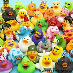 Rhode Island Novelty 2 Inch Rubber Ducky Assortment 50 Pieces per Order $28.30