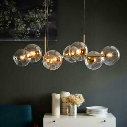 Nordic Glass Ball Chandelier Lighting Bubble Led Hanging Lamps Modern Dinning $445.99