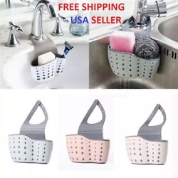 Kitchen Organiser Sink Caddy Basket Dish Sponge Holder Soap Dispenser $5.45