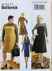 Butterick 6707 Womens Plus Dresses Sewing Pattern Sz 18W 24W $3.99