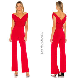 $188 Lovers Friends CROFT JUMPSUIT Red Casual Party Women#x27;s sz Large NEW $113.39