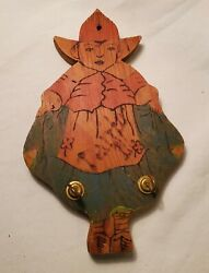 1944 Vintage Wooden Danish Towel Hook Handmade For Grandma From Marianna $4.50
