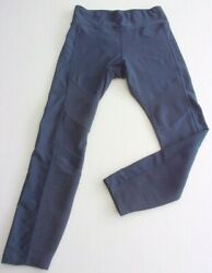 SPALDING LEGGINGS PANTS Activewear Dark Blue MEDIUM VERY GOOD FROM USA $9.99